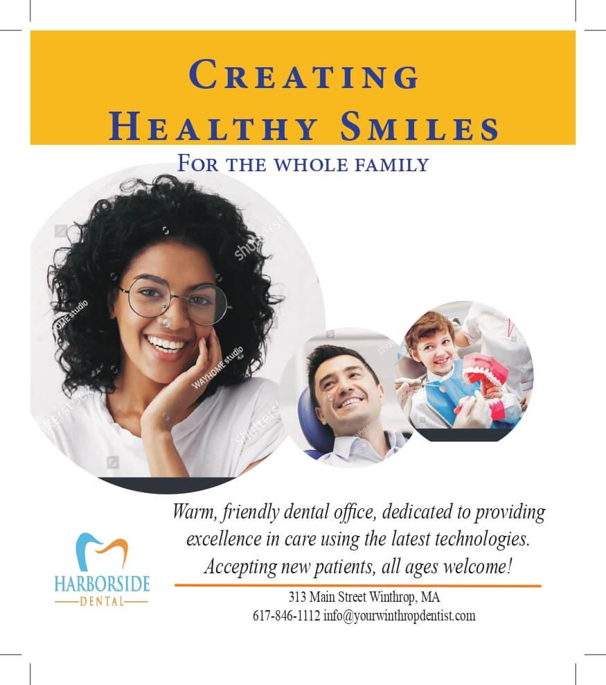 Harborside-Dental graphics design